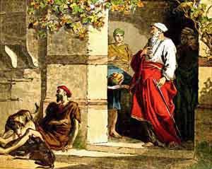 Resultado de imagem para imagem do rico e o Lázaro