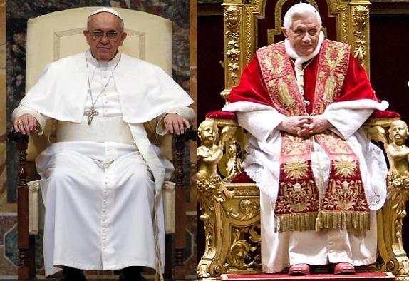 papa francisco trono de ouro