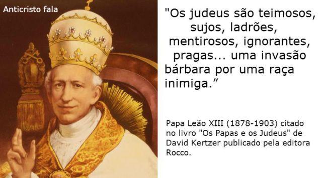 Papa leao xiii contra os judeus
