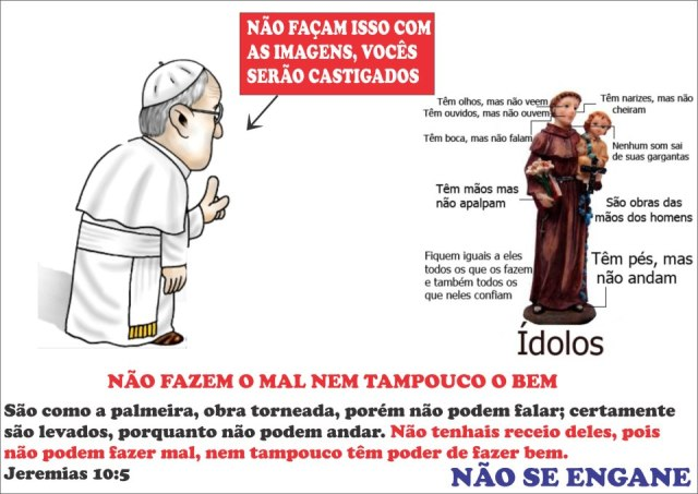 idolatria imagens catolicismo