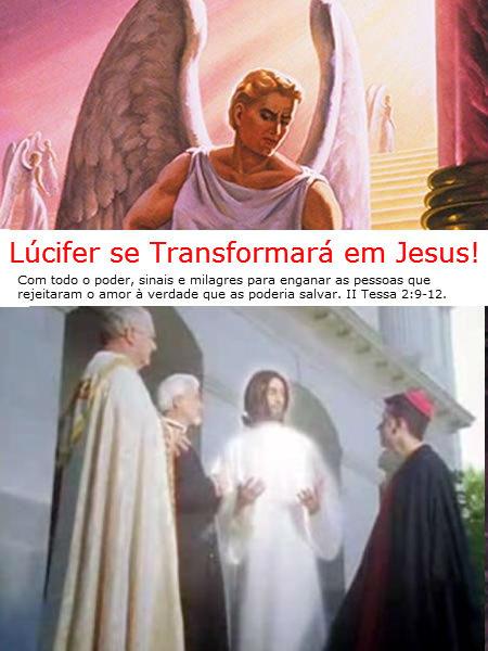 anjo lucifer transformado em jesus