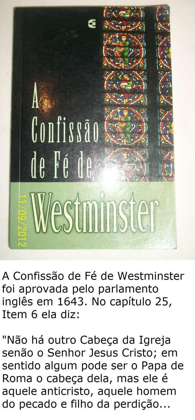 confissao westminster e papa
