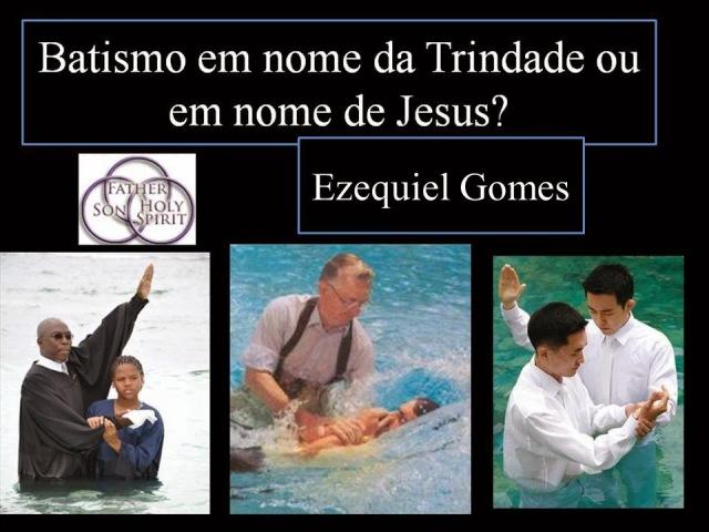 batismo trindade ou jesus