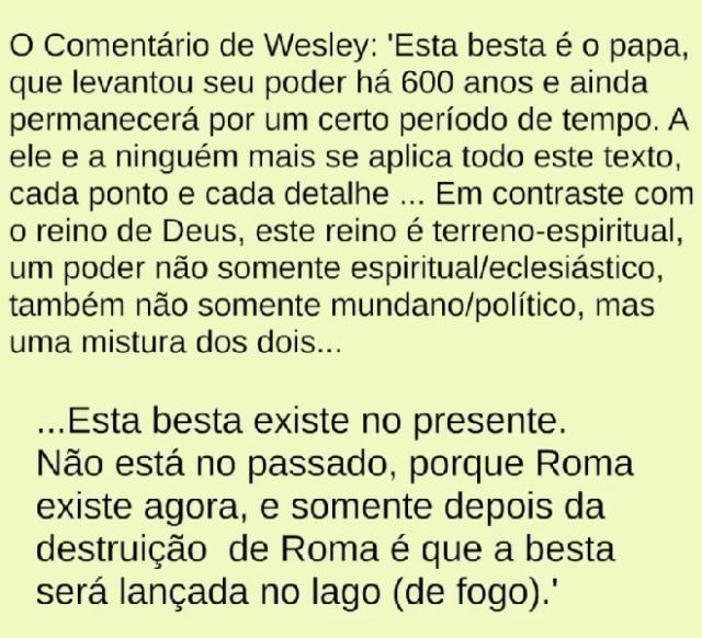 wesley contra anticristo