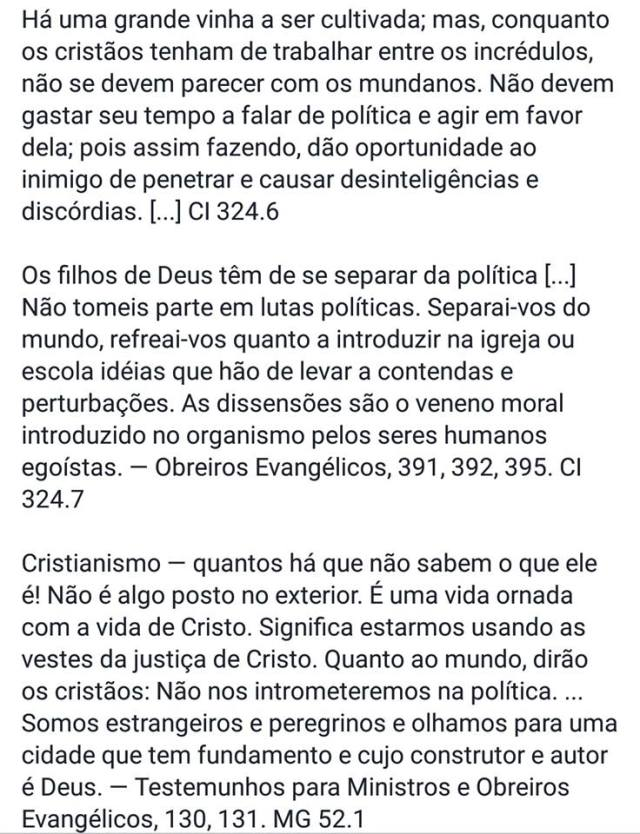 cristaos politica nao1