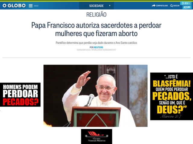 papa blasfemia aborto
