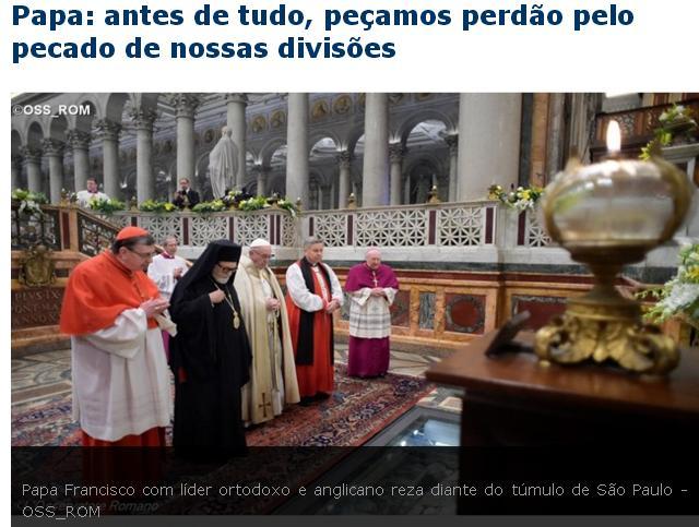 anticristo papa divisao ecumenismo
