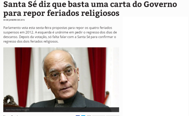 união estado igreja portugal